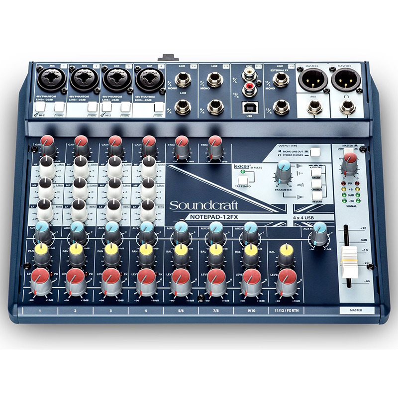 Soundcraft Notepad 12FX Mixing Console