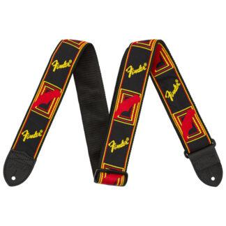 Fender Monogrammed Strap Black Red Yellow
