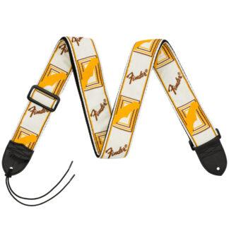 Fender Monogrammed Strap White Yellow Brown