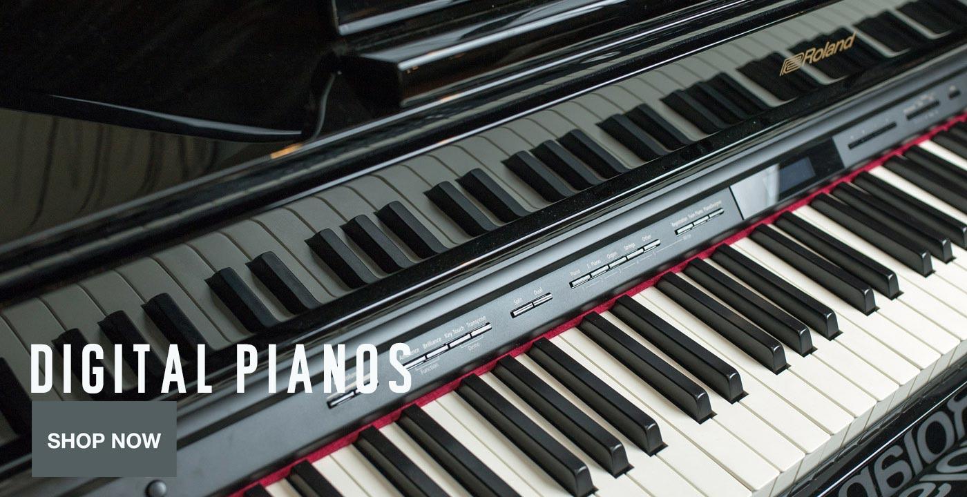Digital Pianos Hero Shop Now