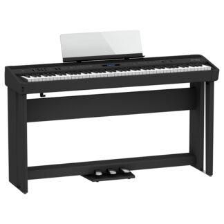Roland FP-90X Black Bundle Digital Piano Angle