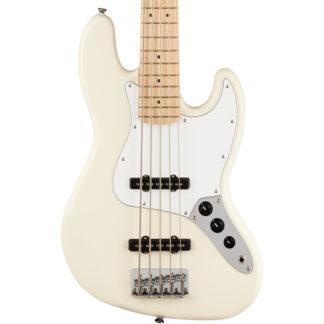 Squier Affinity 5-String Jazz Bass V Olympic White body