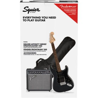 Squier Affinity Strat Pack Charcoal Frost Metallic pack