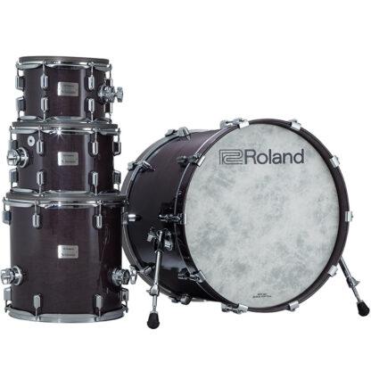 Roland VAD706 V-Drums Acoustic Design Gloss Ebony shell stack