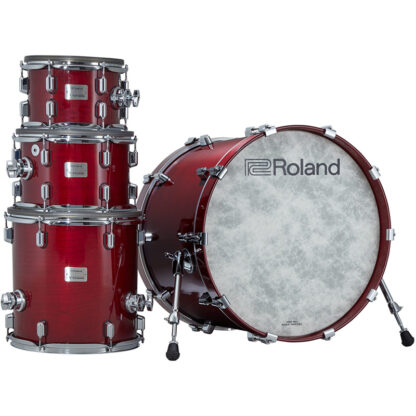Roland VAD706 V-Drums Acoustic Design Gloss Cherry shell stack