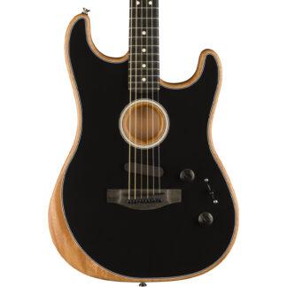 Fender American Acoustasonic Stratocaster Black body