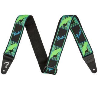 Fender Neon Strap Blue Green